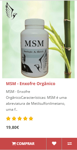 MSM Enxofre Orgânico