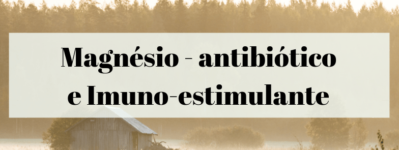 Magnésio antibiótico e Imuno-estimulante