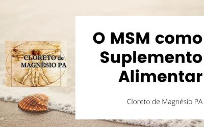 O MSM como Suplemento Alimentar